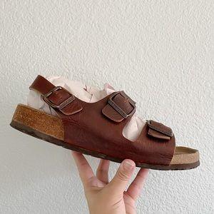 BIRKENSTOCK || Milano Oiled-Leather Sandals